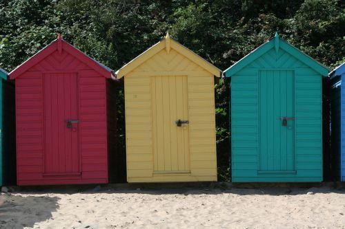 beach hut sands sea