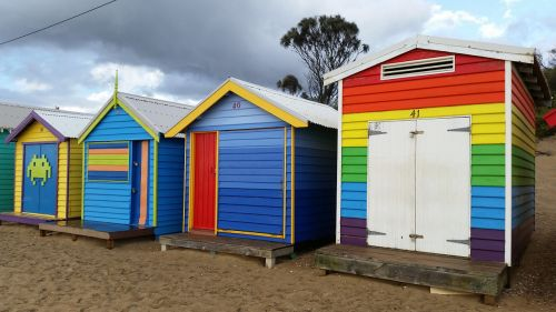 beach hut colour color