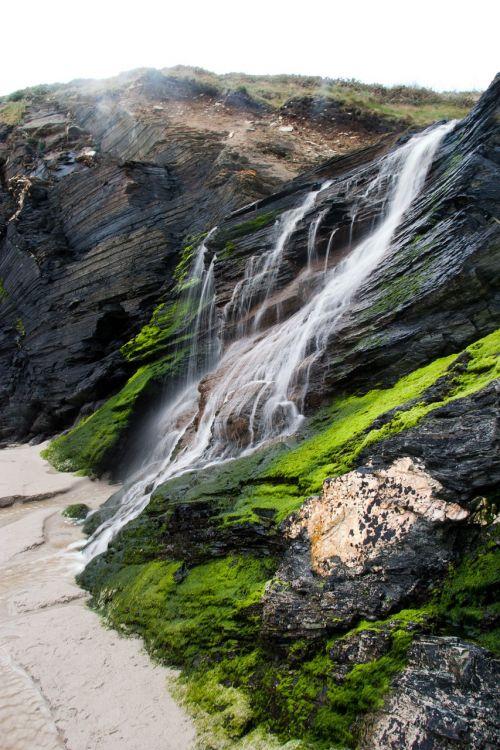 katedrų paplūdimys,kriokliai,žalias,vanduo,gamta,kritimo,natūralus vanduo