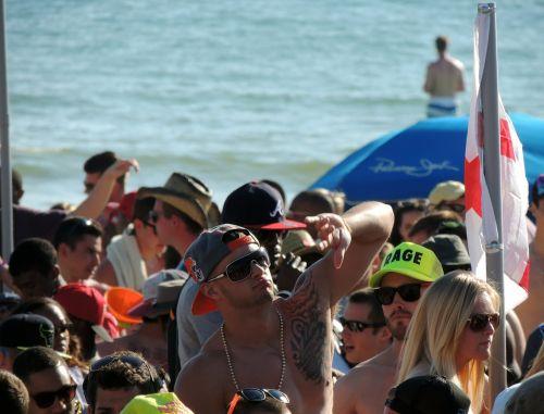 beach party spring break california