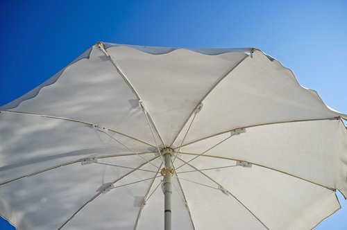 beach umbrella  particular  white