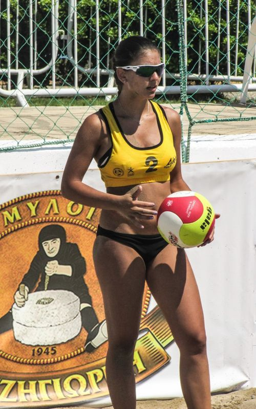 beach volley sport serve