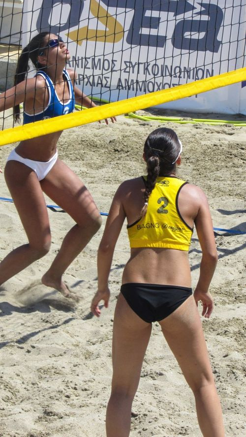 beach volley sport action