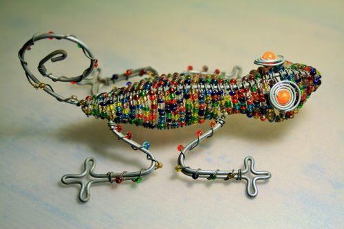 Beaded Lizard As Ornament