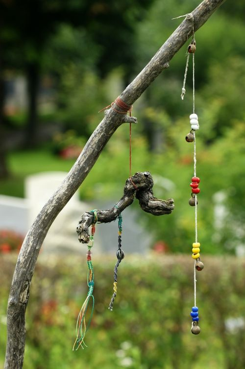 beads wooden balls thread