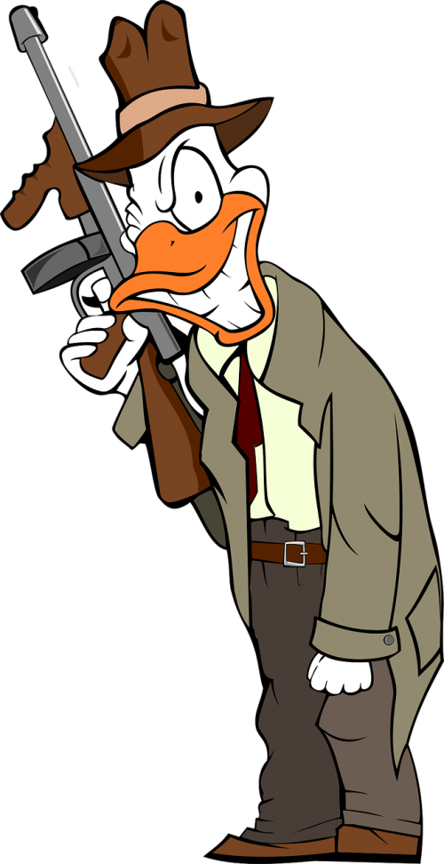 beak cartoon crime