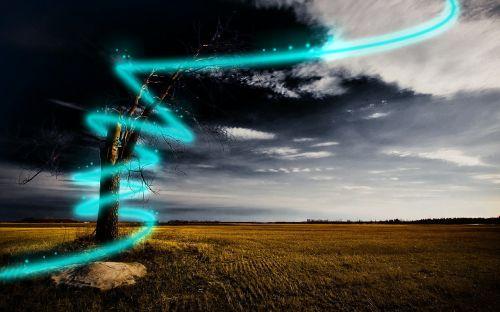 beam of light lase alie