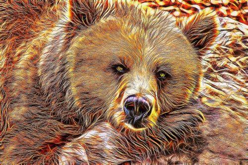 bear bear fractal bear art
