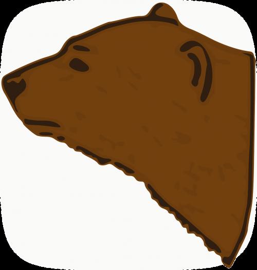 bear head heraldic