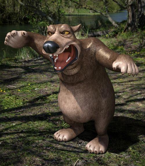 bear toon wild animal
