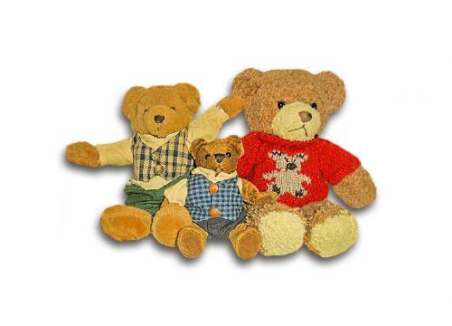bear children toys bear family