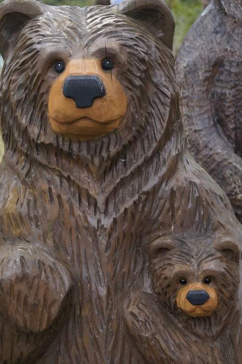 bear  wood  mother and child