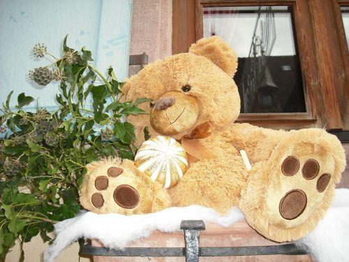 bear plush alsatian christmas alsace