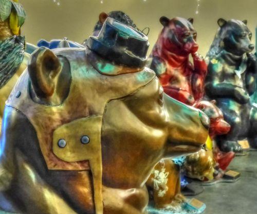 turėti, neša, skulptūra, menas, dotacijos & nbsp, praeiti, oregonas, padengti & nbsp, viešbutį, padengti skulptūromis