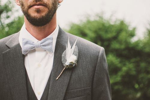 beard bow tie brooch