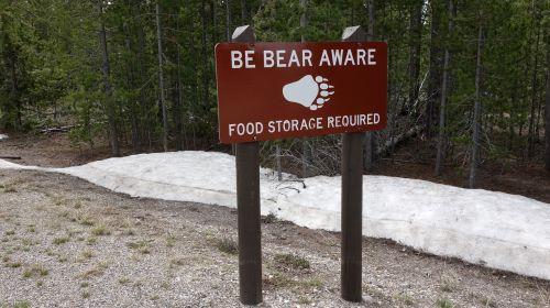 bears warning warning sign
