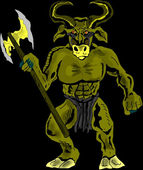 beast bull drawing