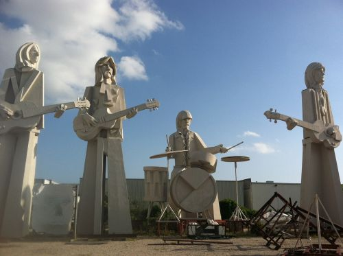 beatles houston statues