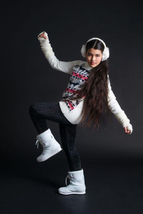 beautiful girl winter girl beautiful hair