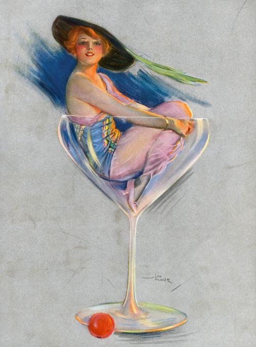 woman,glamour,glamorous,beautiful,vintage,art,loumayer,painting,glass,wineglass,sitting,free,image,publicdomain,poster,print,beautiful woman vintage art