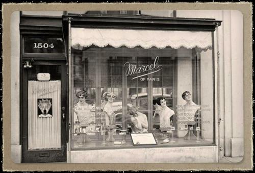 beauty parlour window
