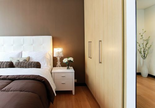 bed bedroom closet