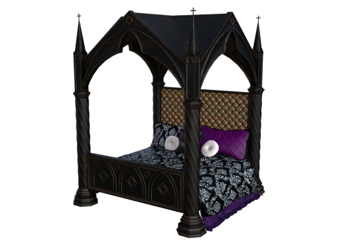 bed four poster bed historically