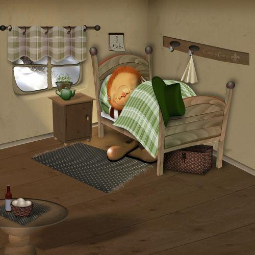 bed sleep comic