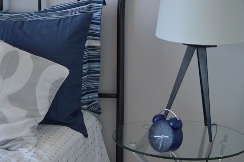bedroom bed alarm clock