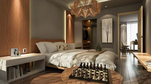 bedroom light wood