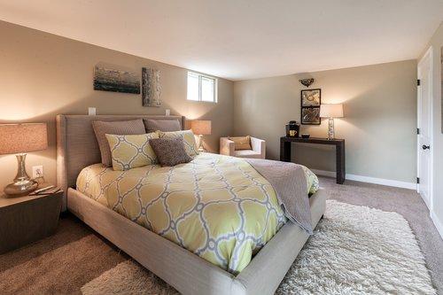 bedroom  basement  bed