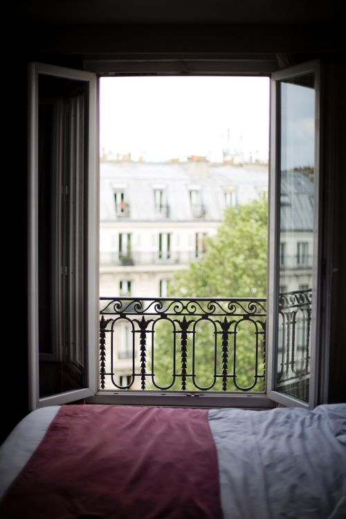 bedroom window france interior