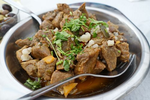 beef mixed stew dining