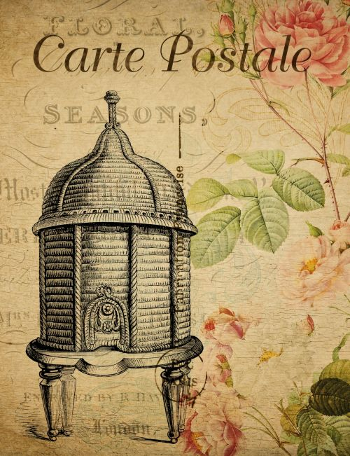 Beehive Vintage French Postcard