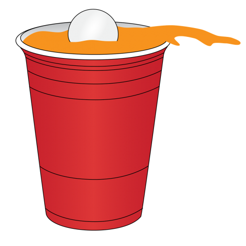 beer pong red
