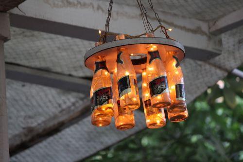 beer hanging golden