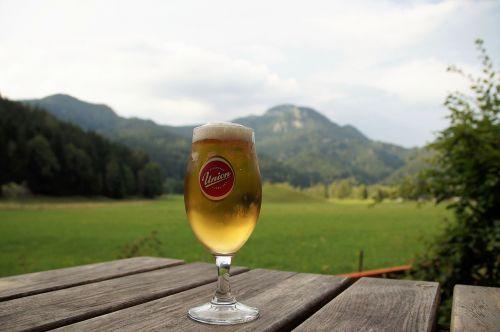 beer a glass of beer jezersko