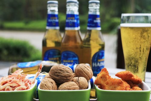 beer  glass  food