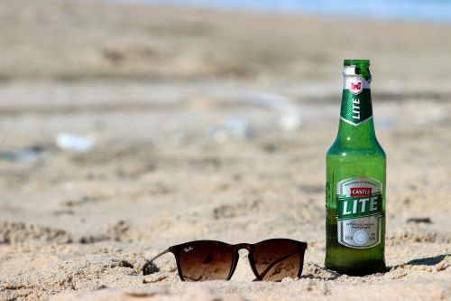 beer sunglasses beach