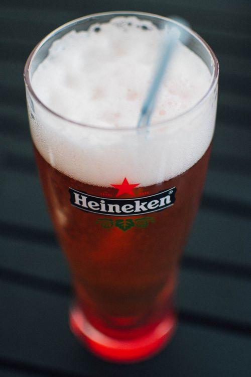 beer glass heineken