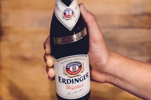 beer bottle hand