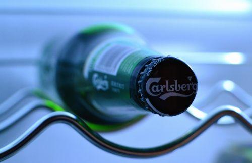 beer bottle carlsberg refridgerator