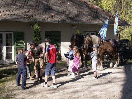 beer garden event brewing horses