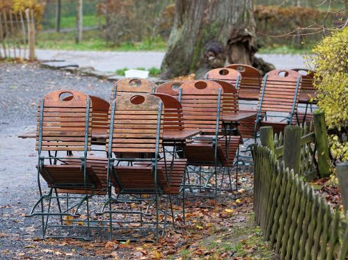 beer garden dining tables chairs