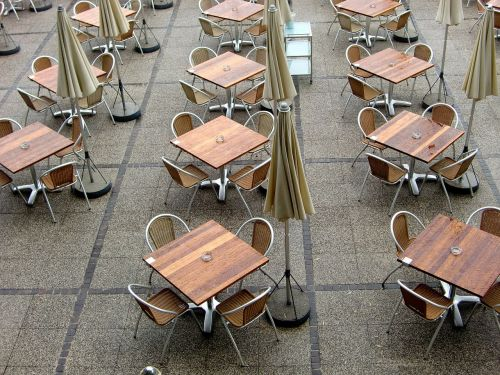 beer garden gastronomy dining tables