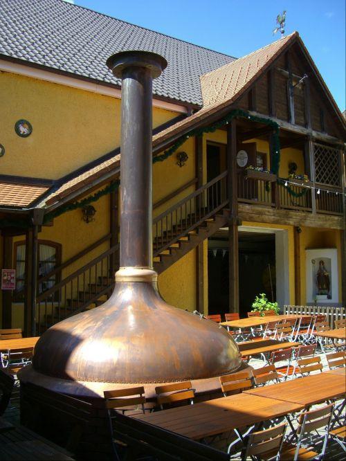 beer garden courtyard sudpfanne