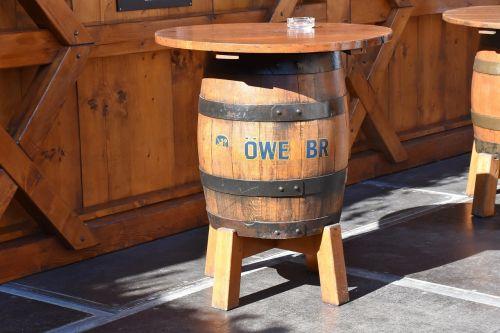 beer keg table barrel