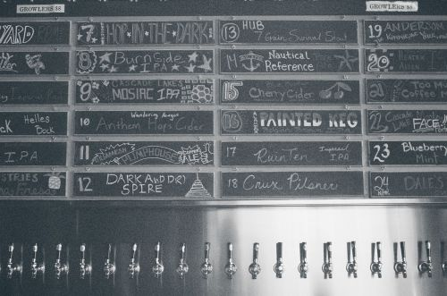 beer taps bar brews