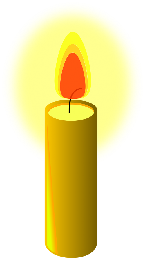 beeswax candle fire