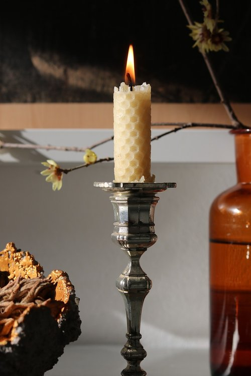 beeswax  candle  decoration